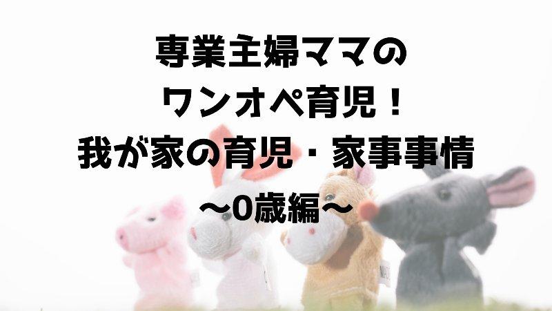 専業主婦ママのワンオペ育児!我が家の育児・家事事情~0歳編~