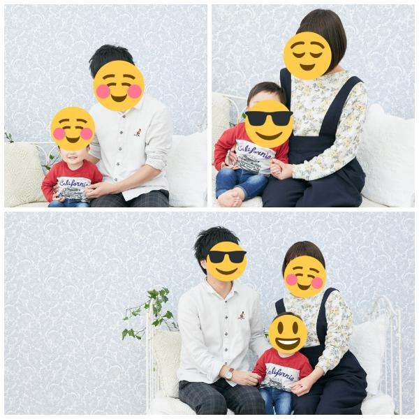 たまひよ写真館の家族写真