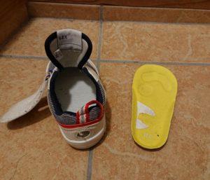 子どもの靴の中敷き